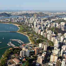 Data: 04/09/2019 - ES - Vitória - Foto aérea de Vitória, Terceira Ponte,Ilha do Boi, Curva da Jurema - Fotos aéreas para o aniversário de Vitória - Editoria: Cidades - Foto: Felipe Mota - Fly Now - GZ