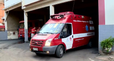 A única ambulância que presta atendimento de emergência na cidade é do Corpo de Bombeiros. Crédito: TV Gazeta/Reprodução