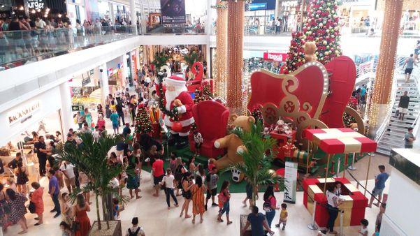 Grande movimentação em shopping de Vitória. Crédito: Geraldo Campos Júnior