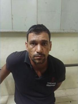 Homem é detido com drogas em van do serviço público de saúde de Colatina. Crédito: Reprodução | TV Gazeta