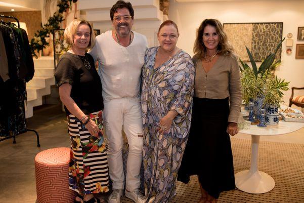 Rita Garajau, Orlando Glingani,  Bebel Gama e Zezé Monteiro: noite de moda e arte em Vix. Crédito: Mônica Zorzanelli