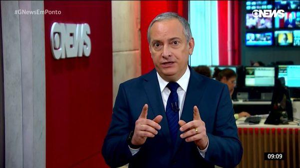 O jornalista José Roberto Burnier. Crédito: Reprodução/Globo News