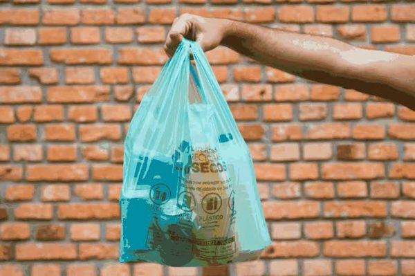 As sacolas verdes distribuídas nos supermercados deverão ser feitas de material reciclado