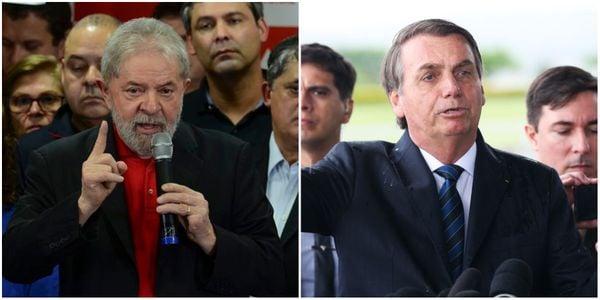 O ex-presidente Lula e o presidente Jair Bolsonaro. Crédito: Rovena Rosa e Antonio Cruz/Agência Brasil