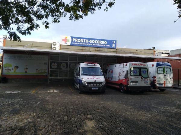 Fachada do pronto-socorro do Hospital Infantil de Vitória. Crédito: Murilo Cuzzuol