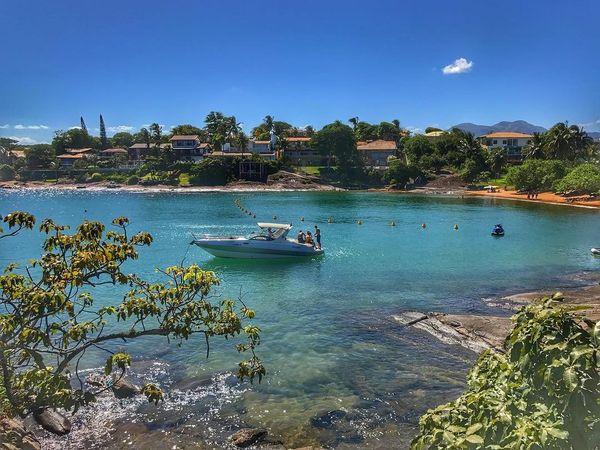 Praia das Conchas, que faz parte do condomínio Aldeia da Praia, em Guarapari