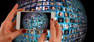 Diversidade, planeta, globo, celular, humanidade, pessoas