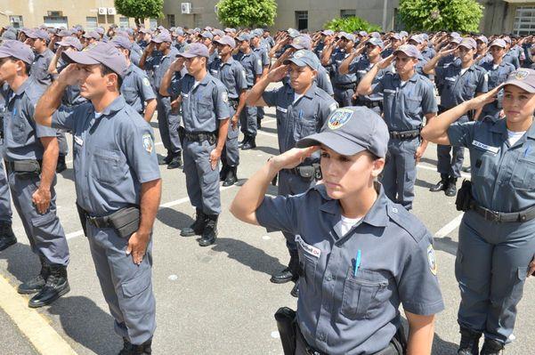 Policiais militares no QCG de Maruípe: desafio é motivar a tropa. Crédito: Arquivo