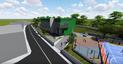 Projeção da escola cívico-militar de Viana