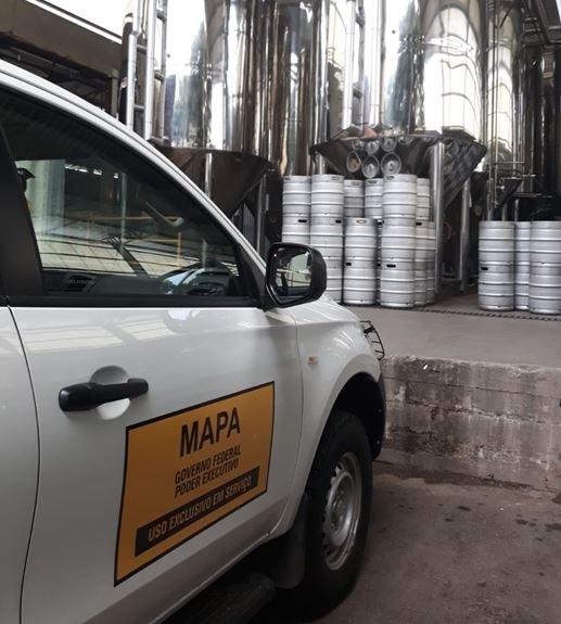 Ministério da Agricultura interdita Cervejaria Backer. Crédito: Ministério da Agricultura