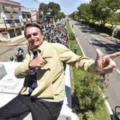 Jair Bolsonaro em visita a Vitória, durante a campanha para as eleições de 2018