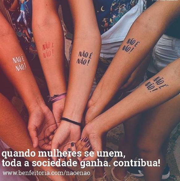 Em 2017, foram distribuídas 4 mil tatuagens; no ano passado, esse número evoluiu para 186 mil. Crédito: Reprodução / Instagram @naoenao_