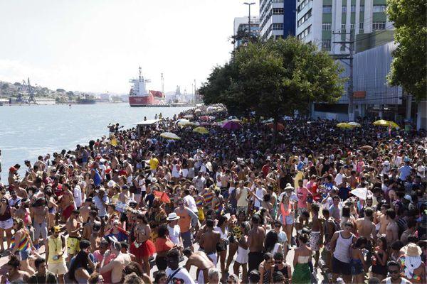 Carnaval na Beira-Mar com Regional da Nair, em 2019. Crédito: Fábio Vicentini