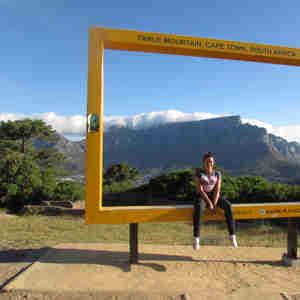 Ana Carolina em sua viagem para a África do Sul