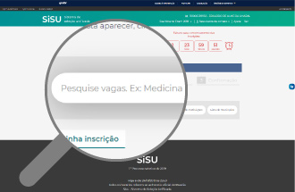 Passo a passo para se increver no Sisu. Crédito: Reprodução / Site do Sisu