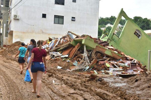 Chuvas deixam rastro de destruição em Iconha, no Sul do Espírito Santo