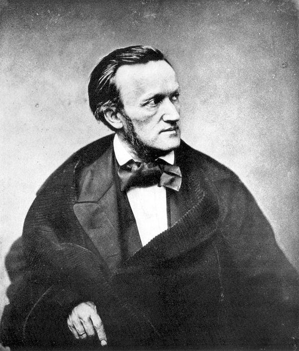 O compositor alemão Richard Wagner em Paris, em 1861