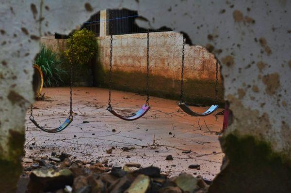 Muro da Pré Escola Astéria Siqueira Miranda, em Iconha. Crédito: Fernando Madeira