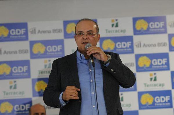 Atual governador do Distrito Federal, Ibaneis Rocha