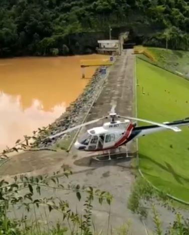 Cheia na barragem de Francisco Gross. Crédito: Divulgação/Prefeitura de Alegre