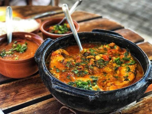 Moqueca de peixe servida no restaurante Casarão da Barra, em Conceição da Barra. Crédito: Evelize Calmon
