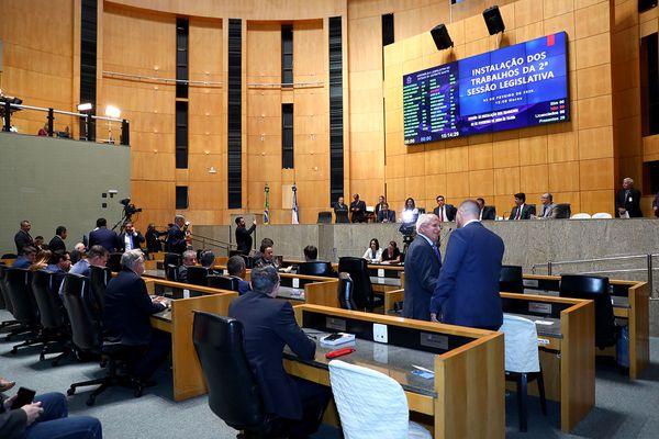 Plenário da Assembleia Legislativa: sessões na Casa foram suspensas no último dia 17. Crédito:  Tati Beling/Ales