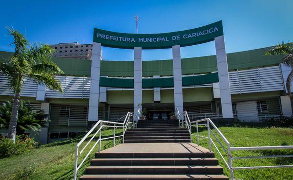 Sede da Prefeitura de Cariacica: concurso para a Guarda Municipal tem 50 vagas. Crédito: PMC