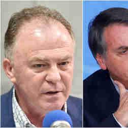 Renato Casagrande e Jair Bolsonaro