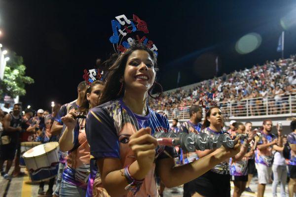 Ensaio técnico da Independente de Boa Vista para o Carnaval 2020. Campeã do ano passado, a escola vai se apresentar no sábado. Crédito: Fernando Madeira