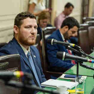Engenheiro Bernardo Sarreta na Comissão de Normas Internas e Proposições Externas da Alerj