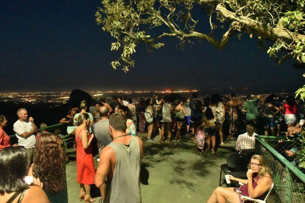 Superlua vista do mirante da Fonte Grande. Crédito: Fernando Madeira