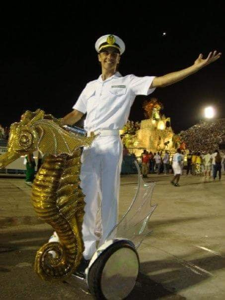 Artista já criou coreografias para escolas de samba no Rio Grande do Sul e do Rio. Crédito: Acervo pessoal