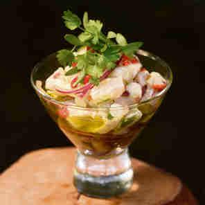 Ceviche de peixe da chef Cleuza Costa