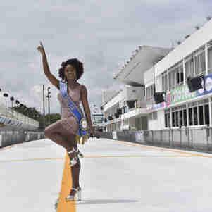 Data: 13/02/2020 - ES - Vitória - Nathalia Messias vence o concurso Garota do Samba da TV Gazeta - Editoria: Cidades - Foto: Vitor Jubini - GZ