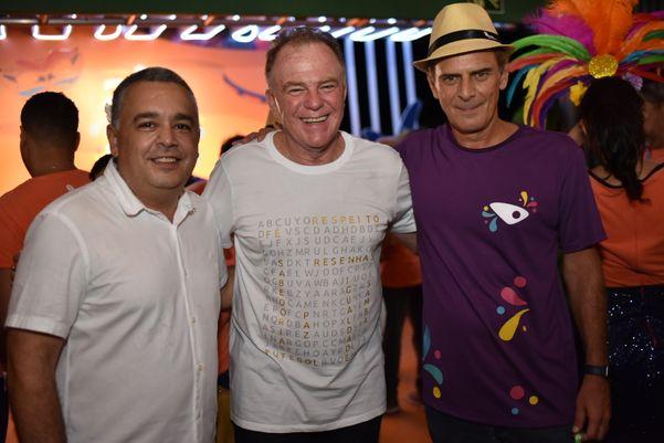 Raimundo Nonato, o governador Renato Casagrande e o diretor de Negócios da Rede Gazeta, Marcello Moraes. Crédito: Monica Zorzanelli