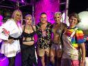 Carnaval de Vitória 2020: Monique Evans, Cacá Werneck, Maicon Rive, Mariana Laranja e Cacaw Wandekoken. Crédito: Pedro Permuy
