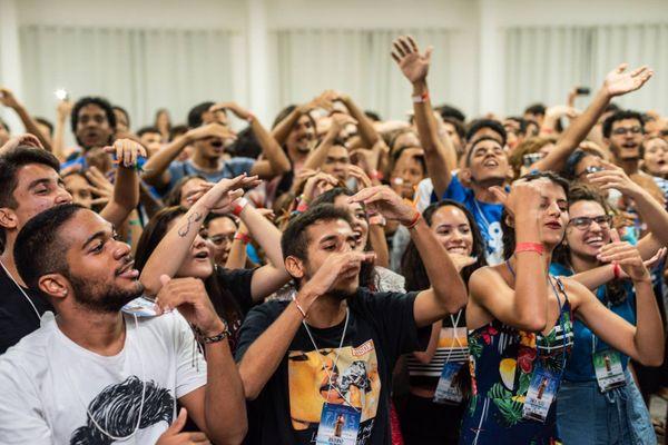 Jovens do Encontro de Mocidades Espíritas do Estado do Espírito Santo (EMEES). Crédito: Divulgação