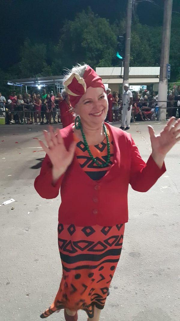 Marilza Zanchetta participa do grupo Sociedade Livre do Samba. Crédito: Divulgação