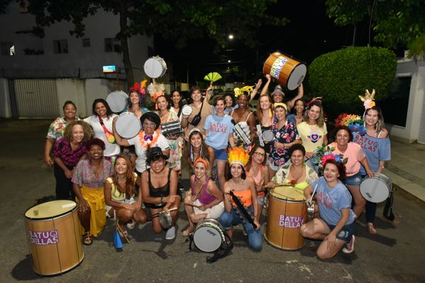 Bloco Batuqdellas reúne mulheres no carnaval. Crédito: Fernando Madeira