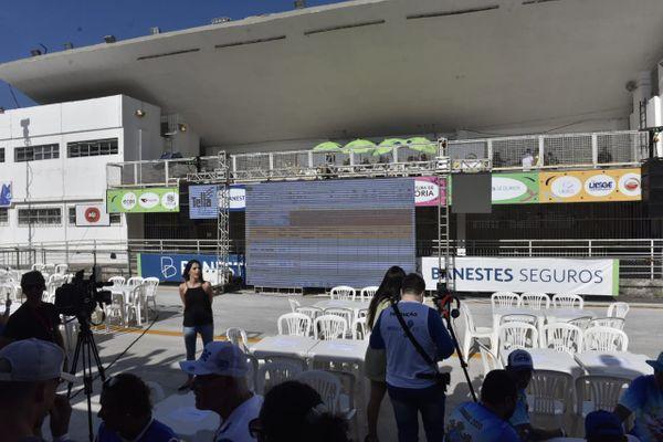 Apuração dos desfiles das escolas de samba acontece nesta quarta-feira (19), no Sambão do Povo. Crédito: Vitor Jubini
