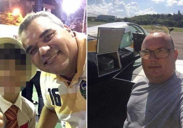 Luciano à esquerda; Fabiano à direita | Vítimas de acidente aéreo em Guarapari. Crédito: Redes Sociais