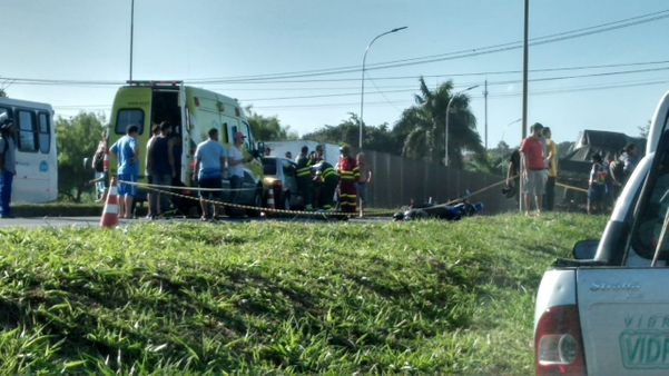 A PRF isolou a área do acidente na BR 101, na Serra. Crédito: Internauta