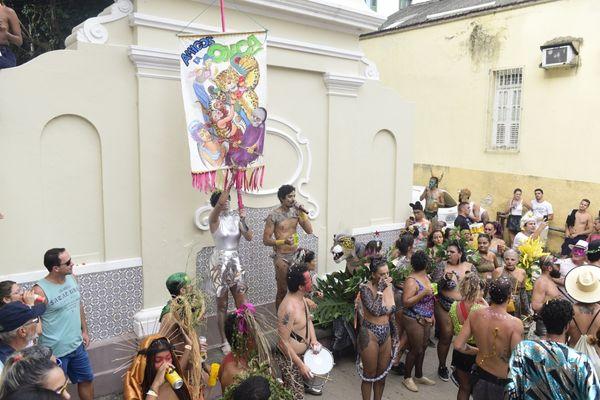 Bloco Amigos da Onça, no Centro de Vitória. Crédito: Ricardo Medeiros