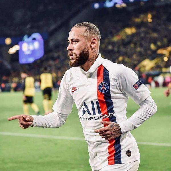 Foi a primeira partida de Neymar em um mata-mata de Champions após dois anos. Crédito: PSG/Divulgação