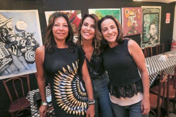 Renata Rosa, Andressa De Prá e Cristina Gomes. Crédito: Mônica Zorzanelli
