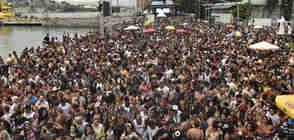Desfile do bloco Bekoo das Pretas na avenida Beira-Mar - Foto: Vitor Jubini