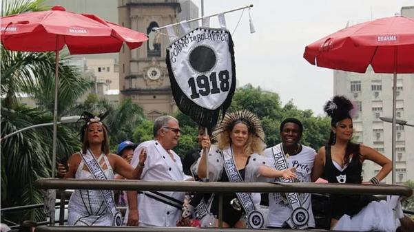 Atriz Leandra Leal e cantor Neguinho da Beija-Flor no Bloco  . Crédito: Paulo Araújo/Estadão