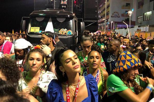 Bruna Marquezini em Carnaval de Salvador. Crédito: Folhapress