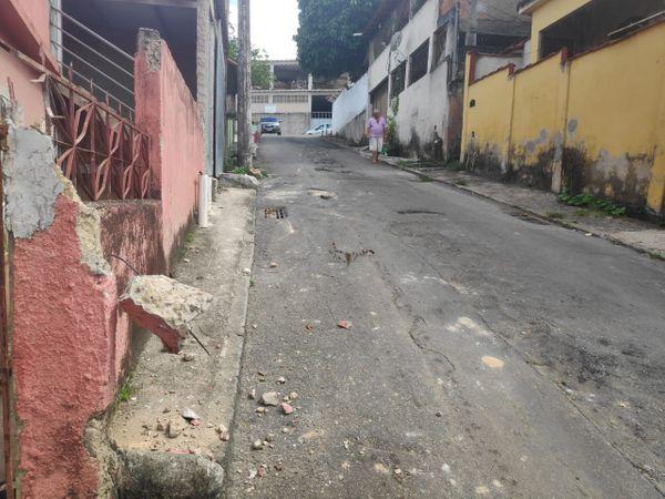 Rua Olival Pimentel. Crédito: Isaac Ribeiro