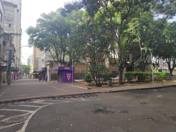 Rua Sete, no Centro de Vitória. Crédito: Isaac Ribeiro